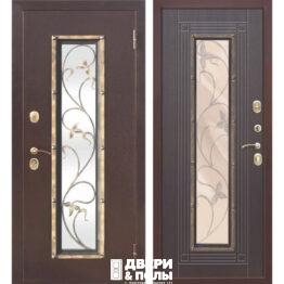 дверь со стеклопакетом и ковкой Плющ