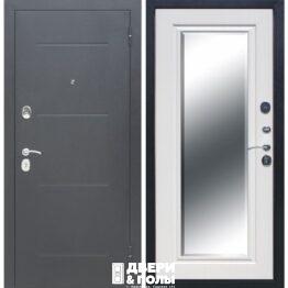 vhodnaya dver garda serebro zerkalo faczet belyj yasen