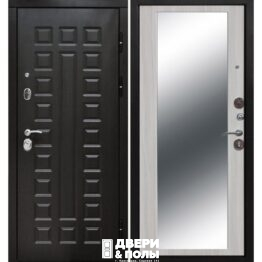 vhodnaya dver monarh 10 sm zerkalo belyj yasen