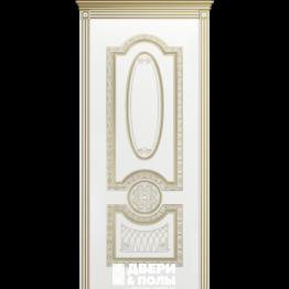 межкомнатная Гармония В3 Эмаль белая остекленная