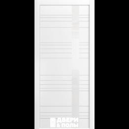 межкомнатная Корсо ЛП 14 Эмаль белая стекло лакобель белое