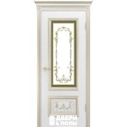 Дверь межкомнатная Дуэт R В3 Эмаль белая остекленная
