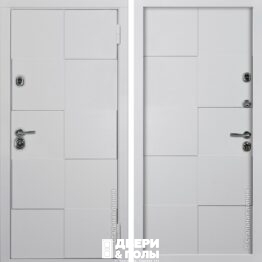 stalnaj linij dveri kvadro belaj